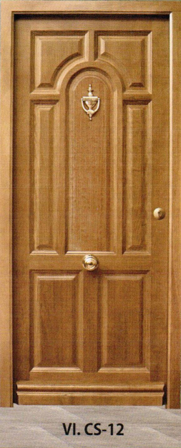 Puertas exteriores carpinter a vicomar for Modelos de puertas de madera para puerta principal