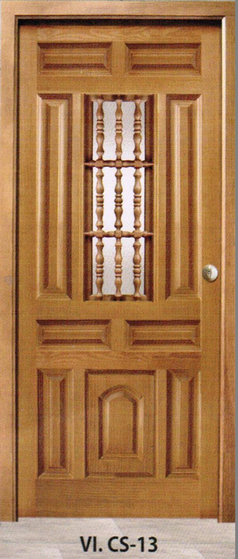 Puerta madera modelo vi cs 13 carpinter a vicomar for Puertas de entrada de madera baratas